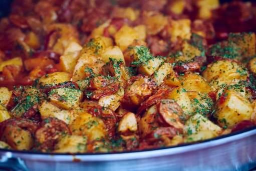 Welcome to my Instant Pot Spanish chorizo and potato hash recipe.