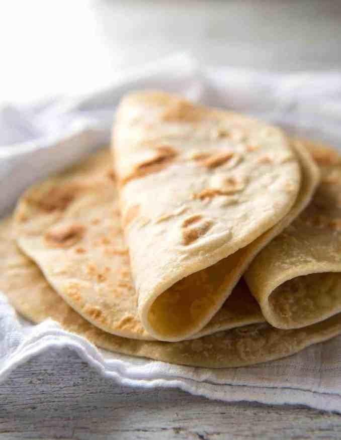 Easy Soft Flatbread Recipe (No Yeast) | RecipeTin Eats