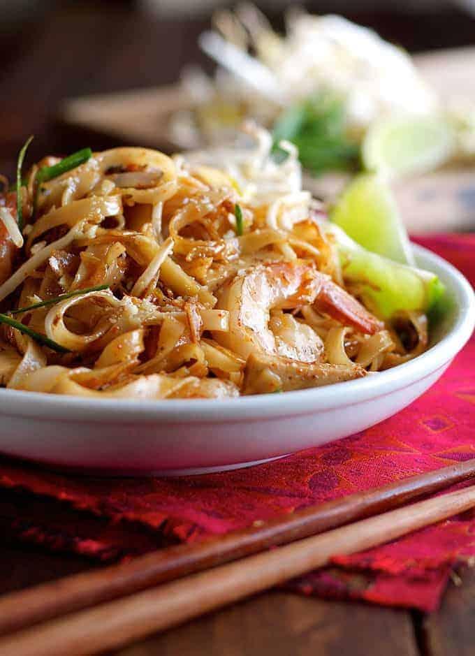 Closeup of Shrimp Pad Thai