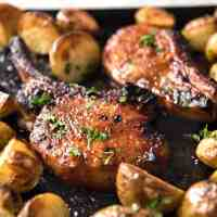 Oven Baked Pork Chops with Potatoes
