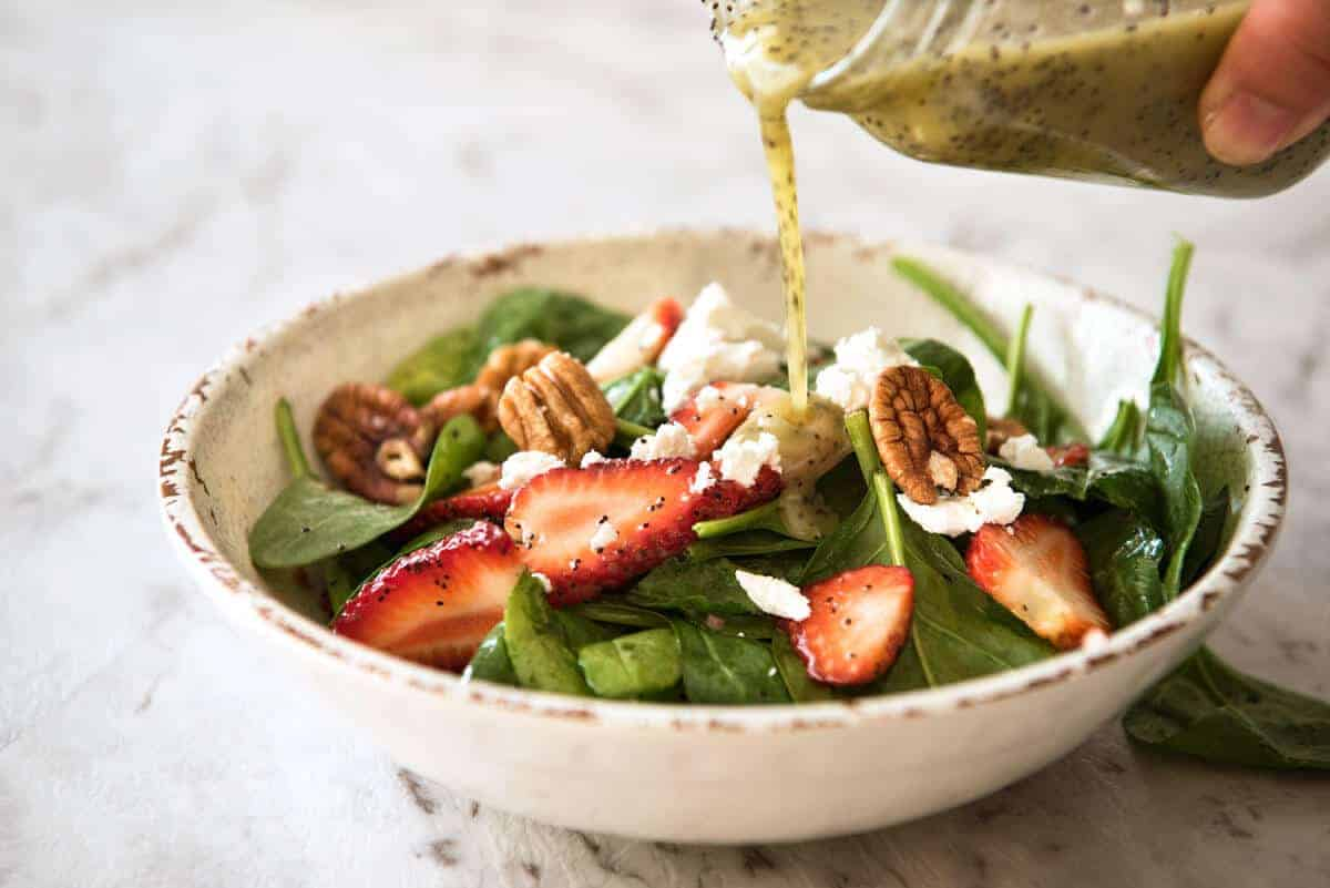 Poppyseed Salad Dressing is so much more than just a dressing with poppyseed in it! It has a unique nutty aroma. Keeps for 3 weeks. www.recipetineats.com