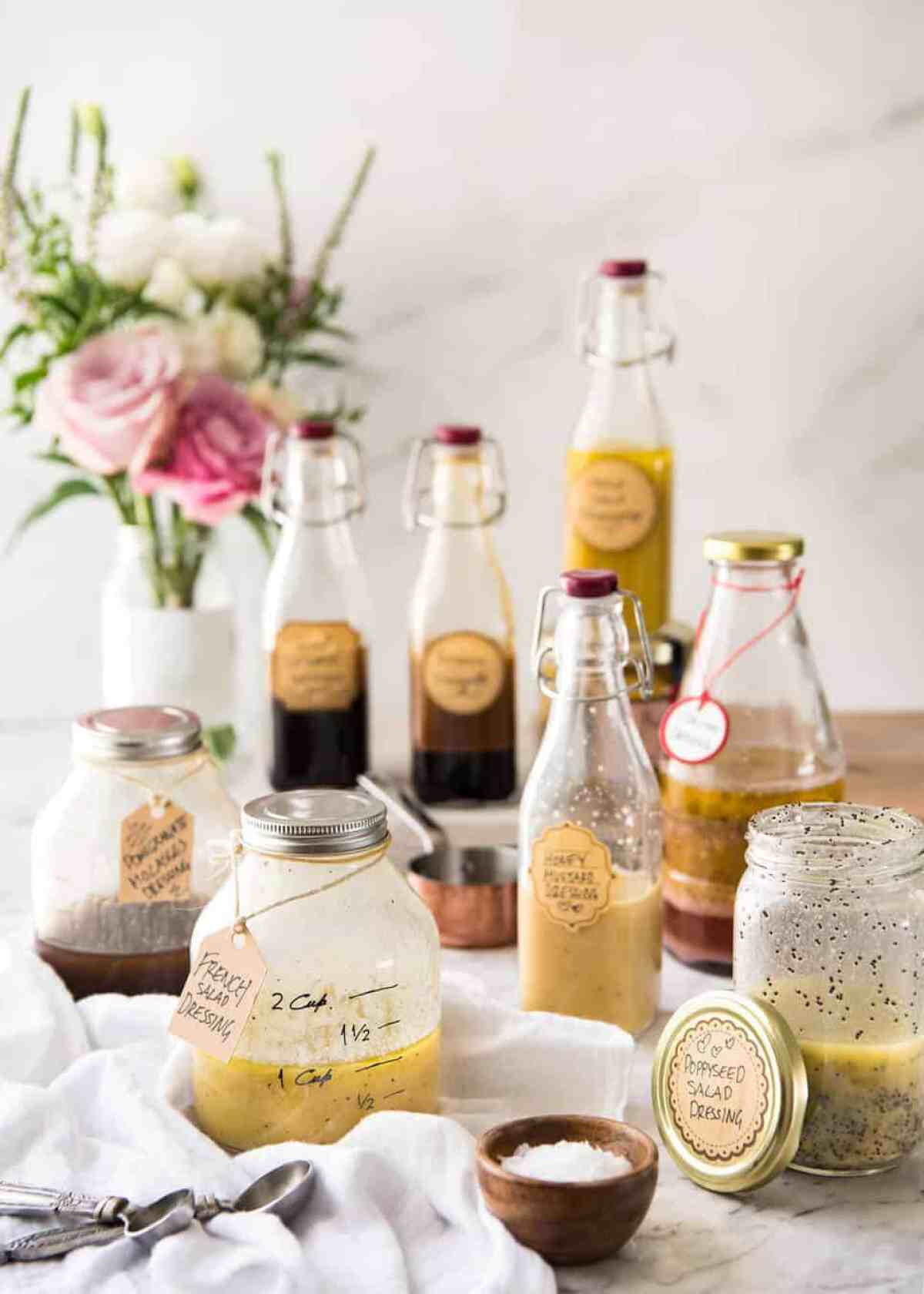 Easy Salad Dressing Recipes - Long Shelf Life, Ready To Use www.recipetineats.com