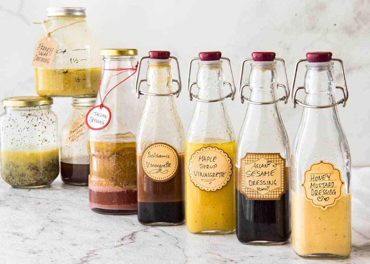 Easy Salad Dressing Recipes - Long Shelf Life, Ready To Use www.recipetineats.com