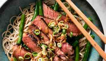 Crispy sticky mongolian beef recipetin eats beef soba noodles with green beans forumfinder Gallery
