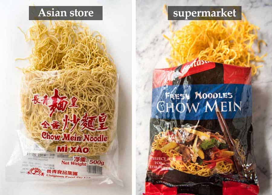 Close up of Chow Mein Noodles