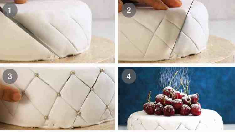 How to decorate side of Christmas Cake