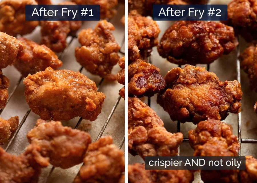 How to make crispy fried pork - double fry it! Asian / Chinese secret