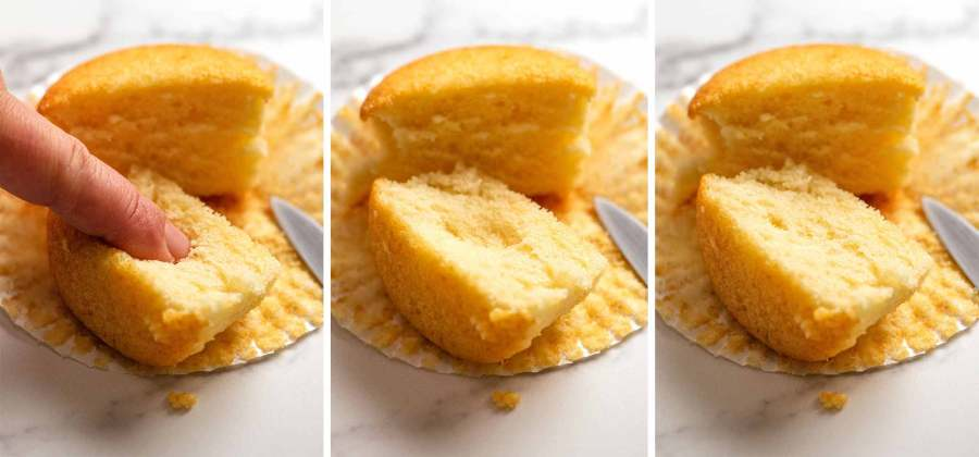 Showing how these vanilla cupcakes stay fresh