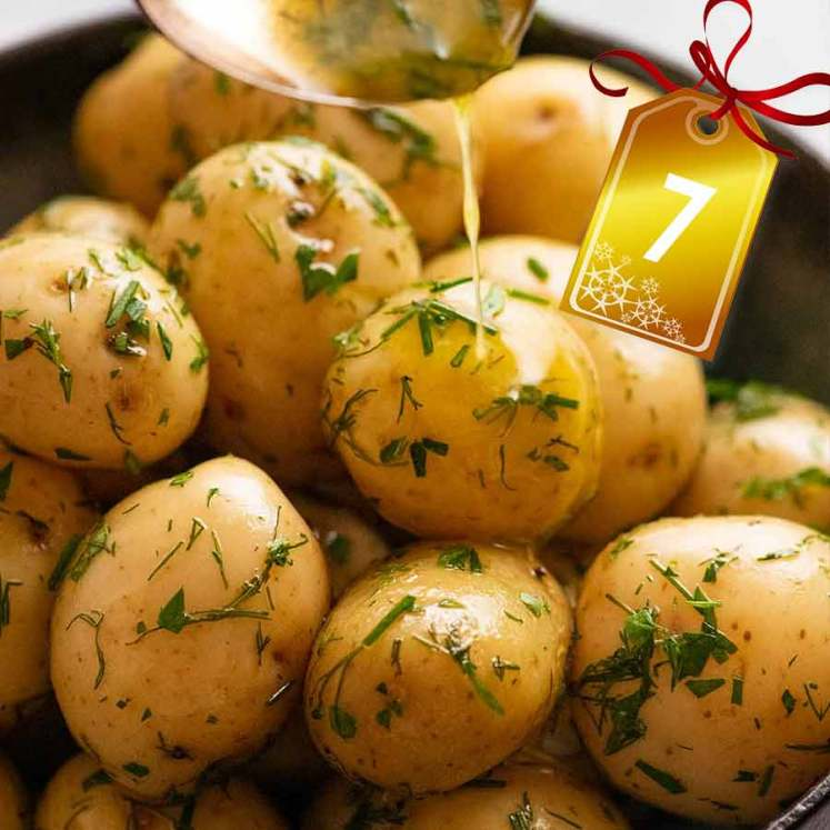 Baby Potatoes with Butter & Herbs