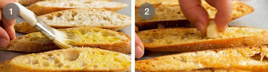 How to make Acqua Pazza - Italian Poached Fish on garlic crostini
