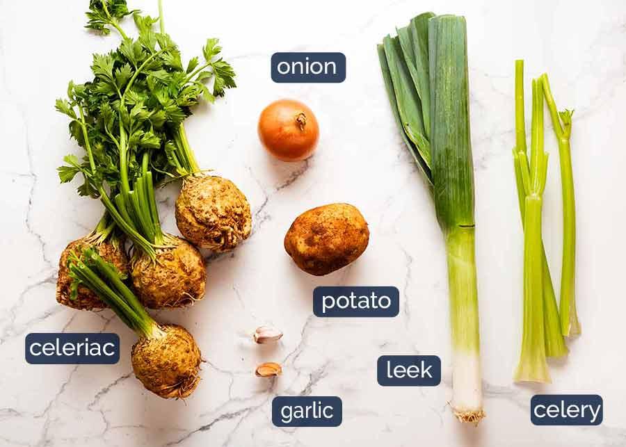 Ingredients in Celeriac Soup
