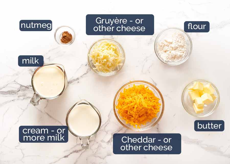Ingredients in Cauliflower Cheese