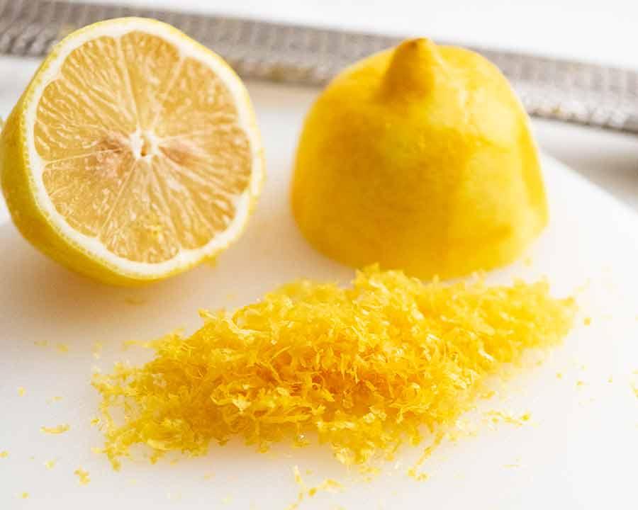 Lemon zest for Lemon Tart