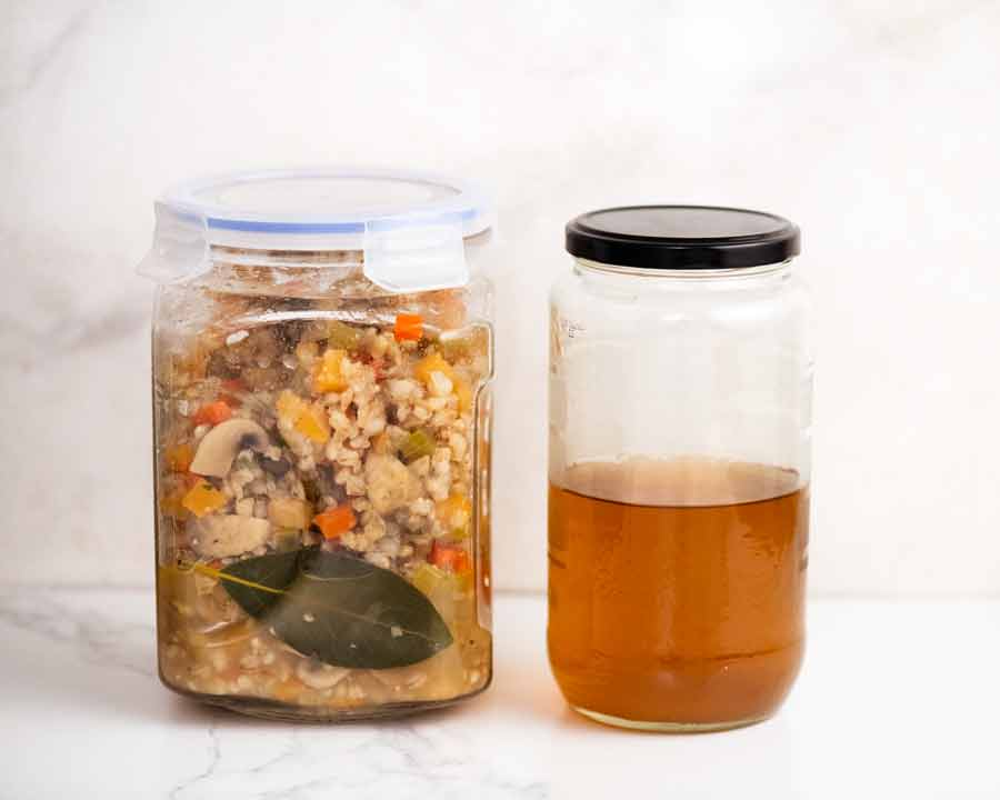 Best way to store leftover barley soup