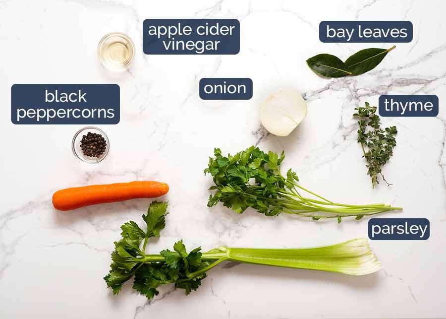 Ingredients in Homemade chicken stock