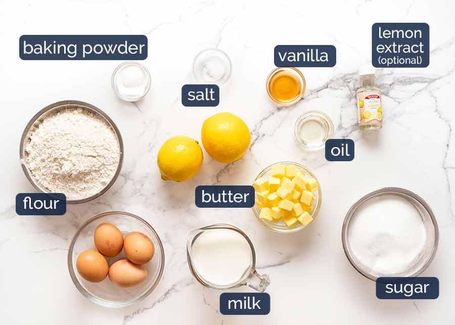 Lemon Cake with Lemon Frosting ingredients