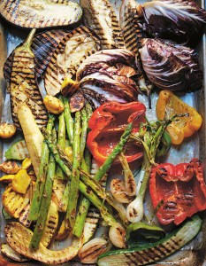 GRILLED SUMMER VEGETABLES WITH ROMESCO SAUCE