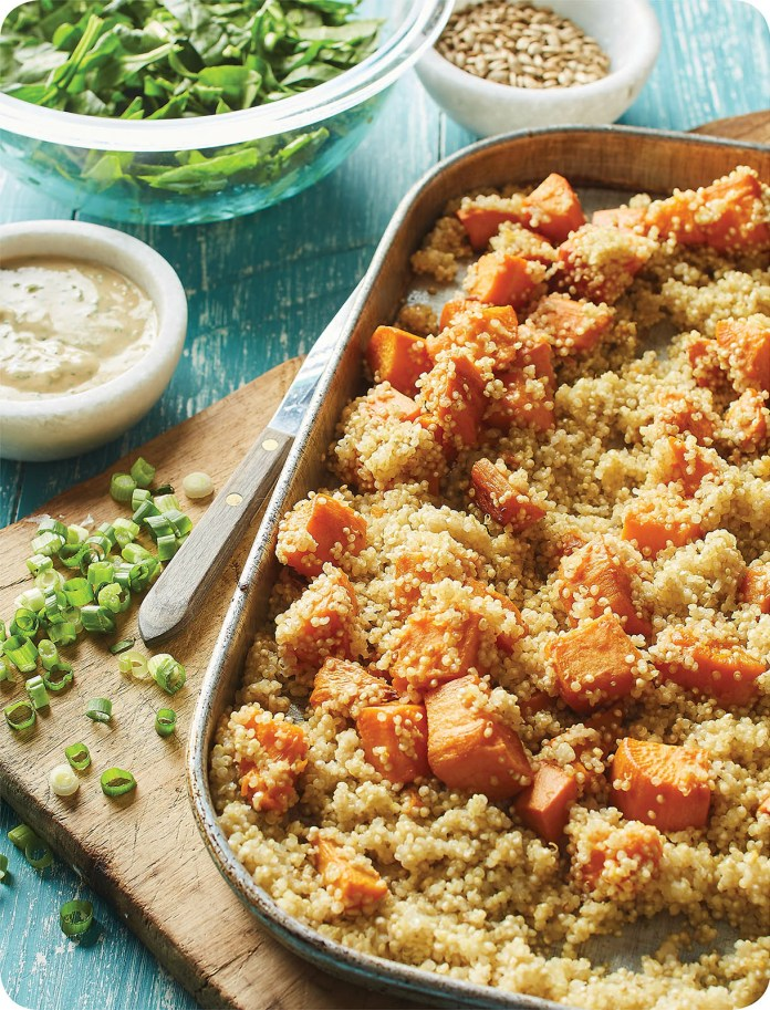 QUINOA AND SWEET POTATO BOWL WITH