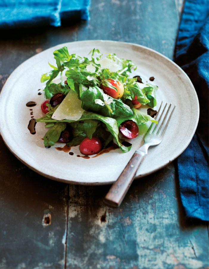 Arugula with Cherries,