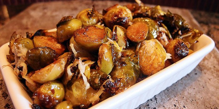 Bacon Fat Roasted Brussels Sprouts
