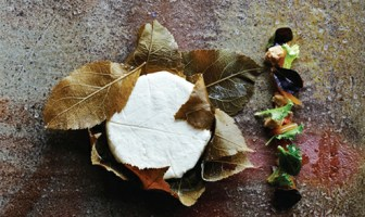 goat cheese salted apple leaf oats