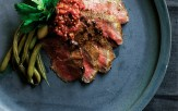 Seared Marinated Flat Iron Steak