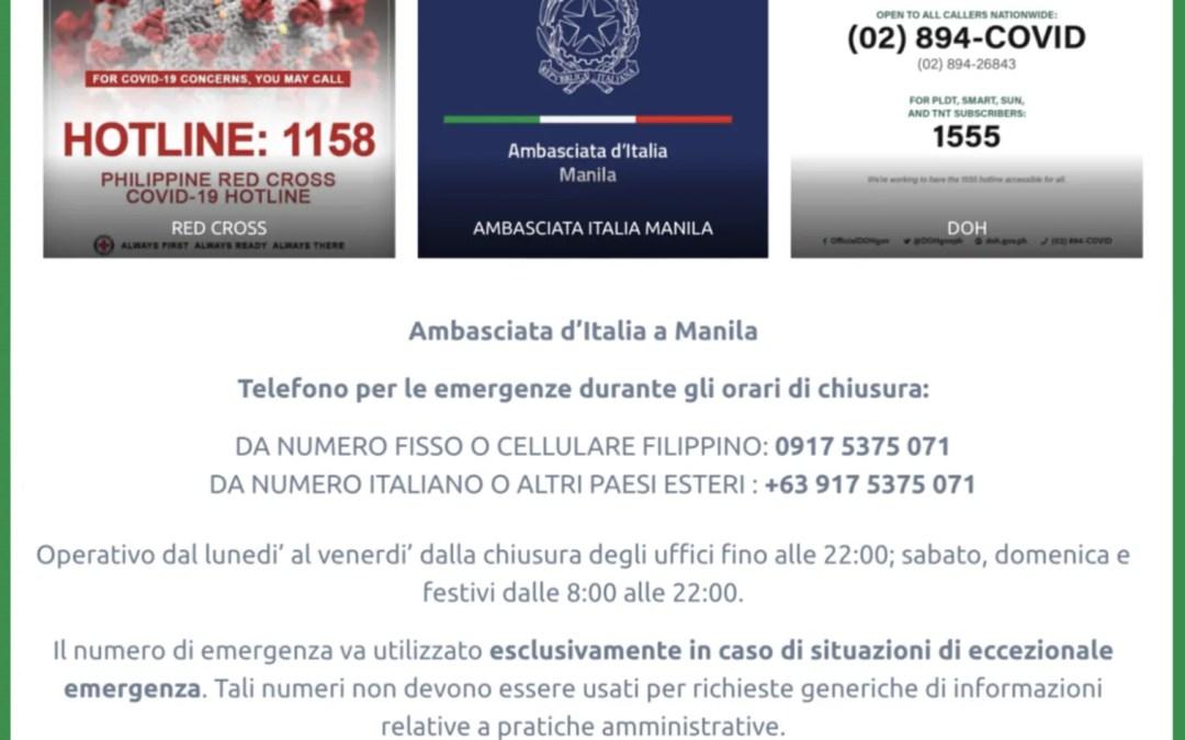 Coronavirus Manila Philippines Emergency Number