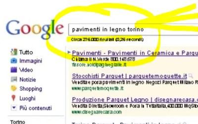 Pavimenti in legno Torino – concorrenza keywords Google