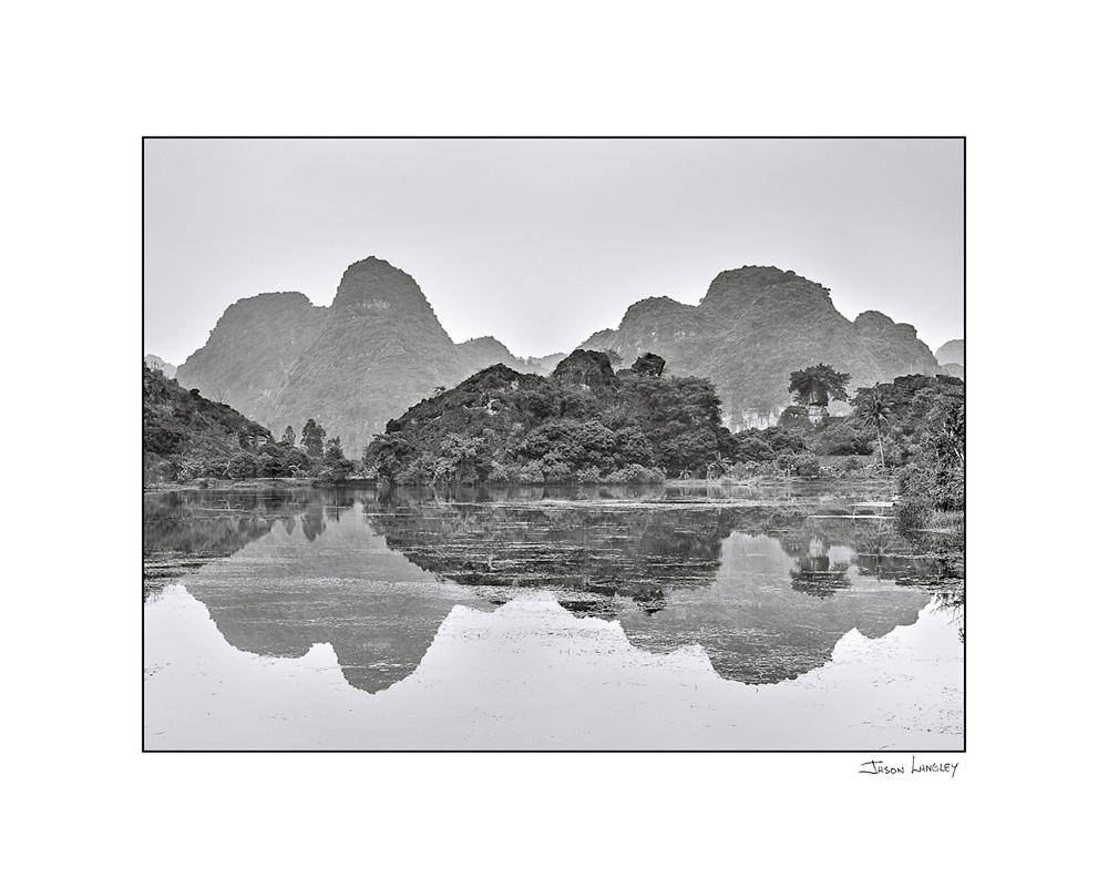 Karst mountain landscape at Ninh Xuân, Hoa Lư District, Ninh Bình Province, Vietnam