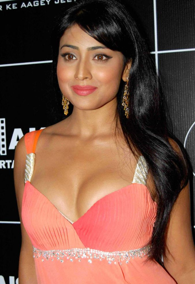 Shriya Saran Hot Navel And Cleavage Show Pics
