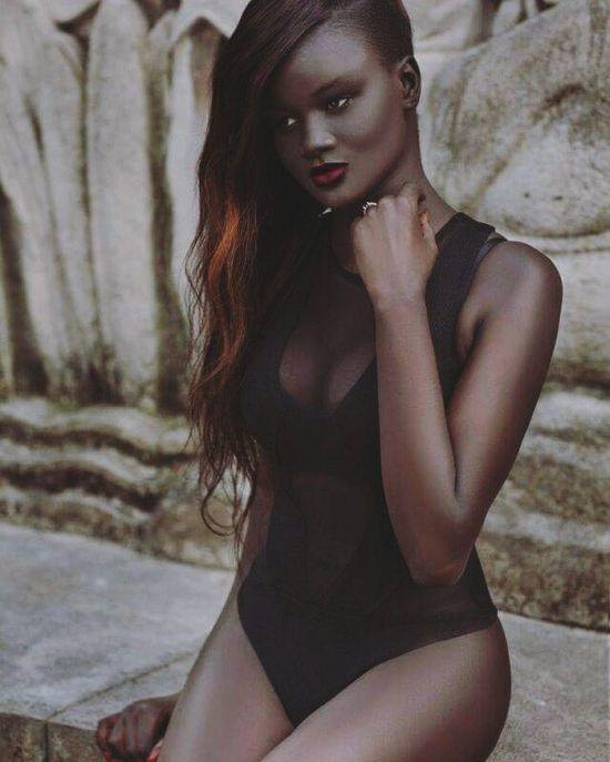 khoudia diop, khoudia diop hot, khoudia diop instagram, darkest model in the world, africa, blackest woman, daughter of the night, melanin goddess, khoudia diop facebook
