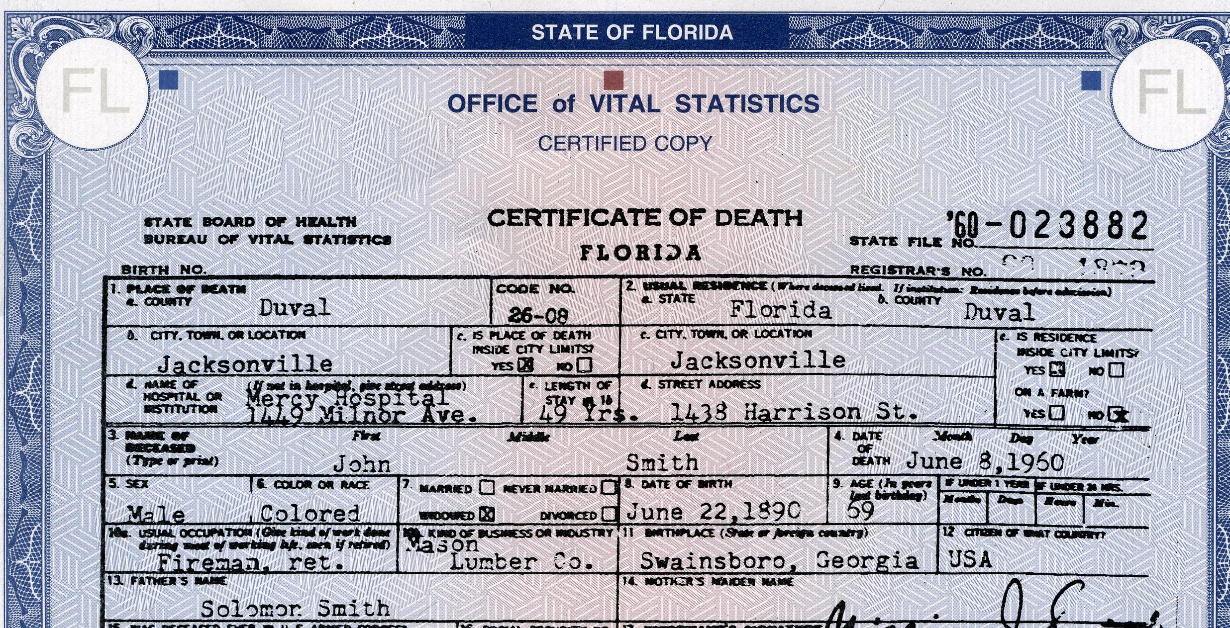 BIRTH AND DEATH RECORDS
