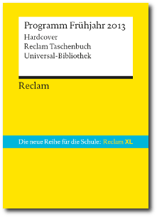 Reclam Vorschau 1/2013
