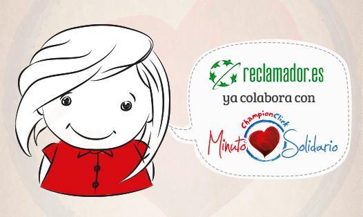 reclamador ya colabora con Minuto Solidario. ¡Tú también puedes!