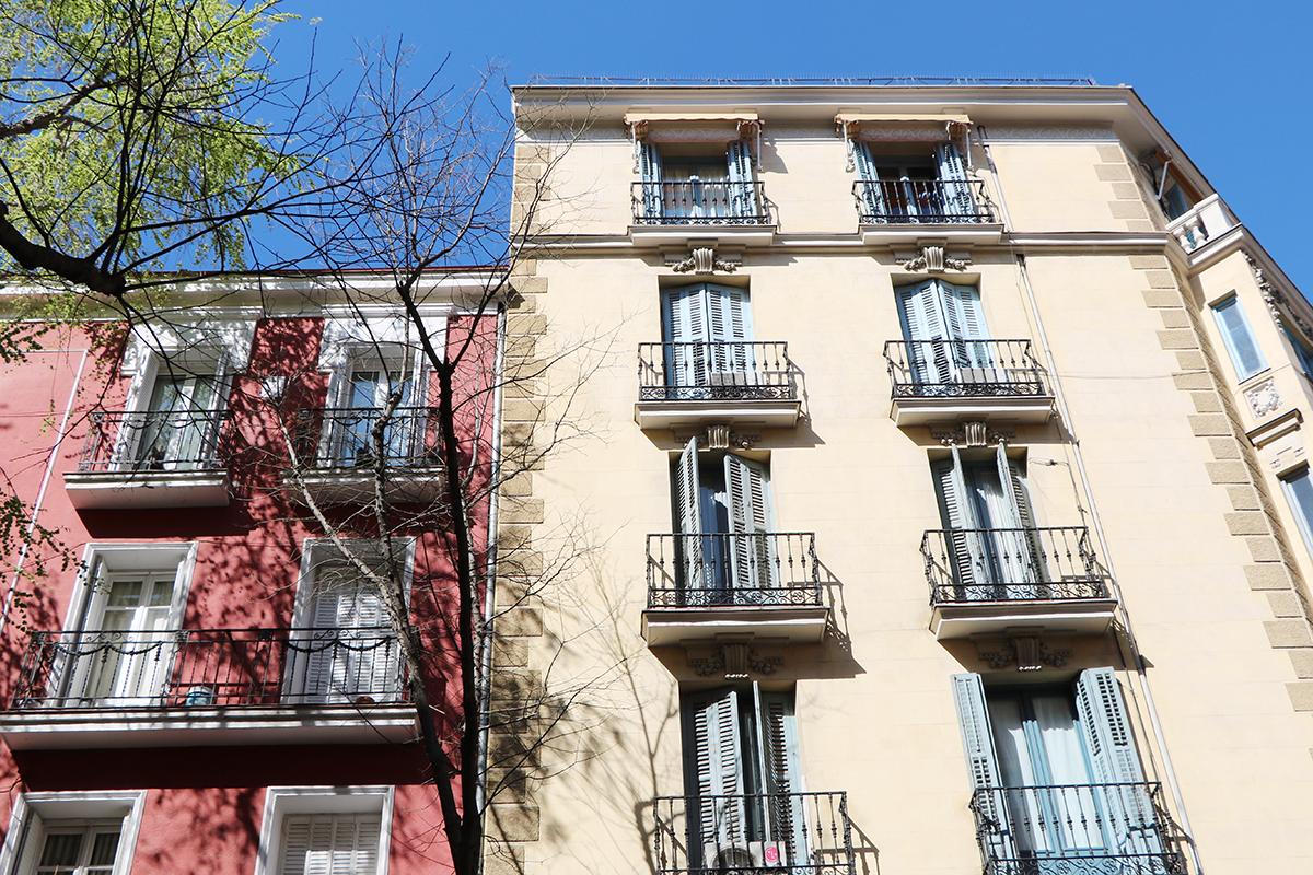 edificios afectados por la cláusula suelo. foto del centro de Madrid