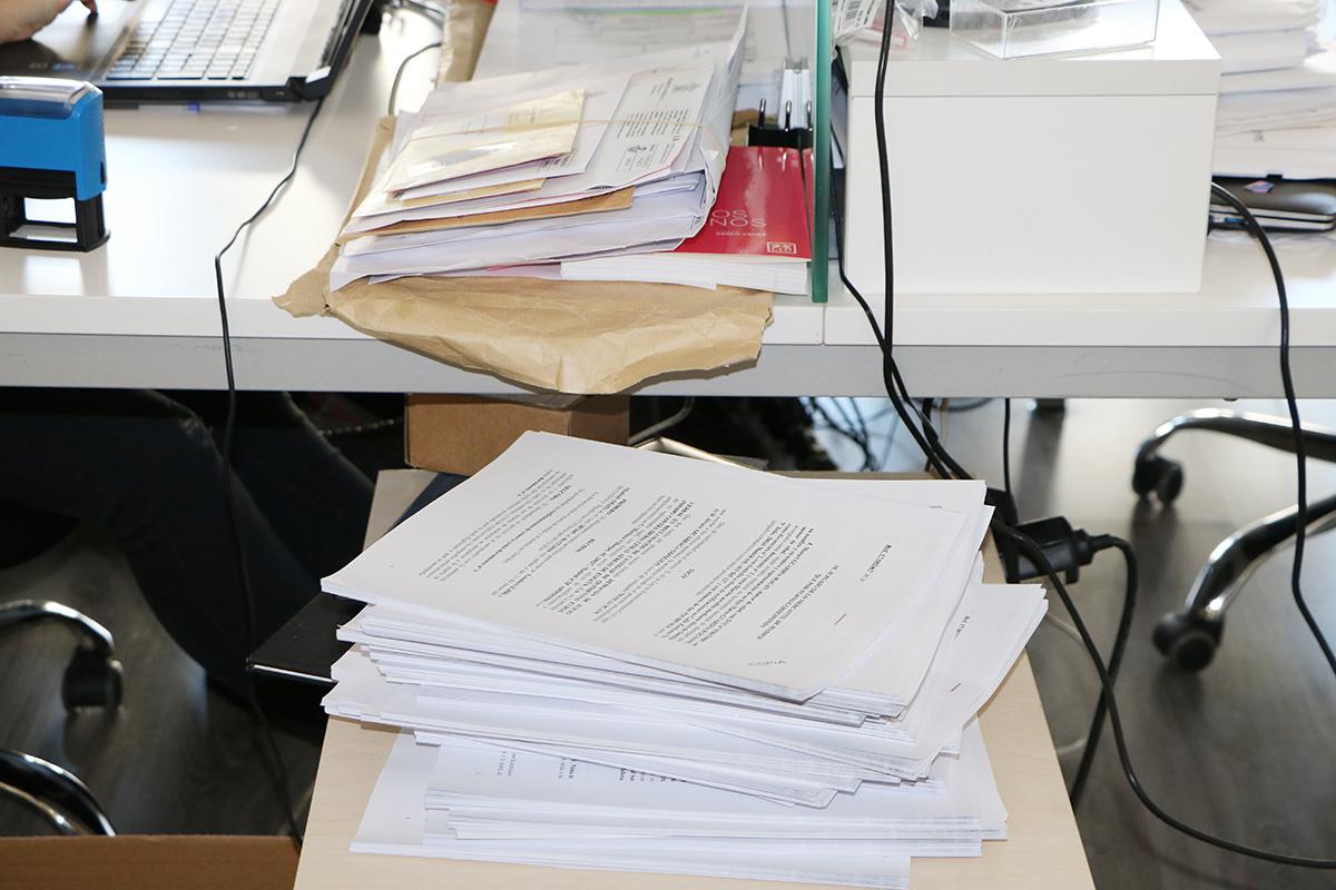 demandas apiladas en juzgado por reclamaciones de cláusula suelo. foto de reclamador.es, compañía de reclamaciones online