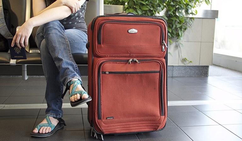 El equipaje de mano para un viaje internacional