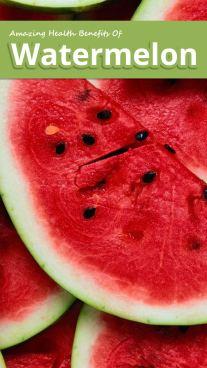 Amazing Health Benefits Of Watermelon
