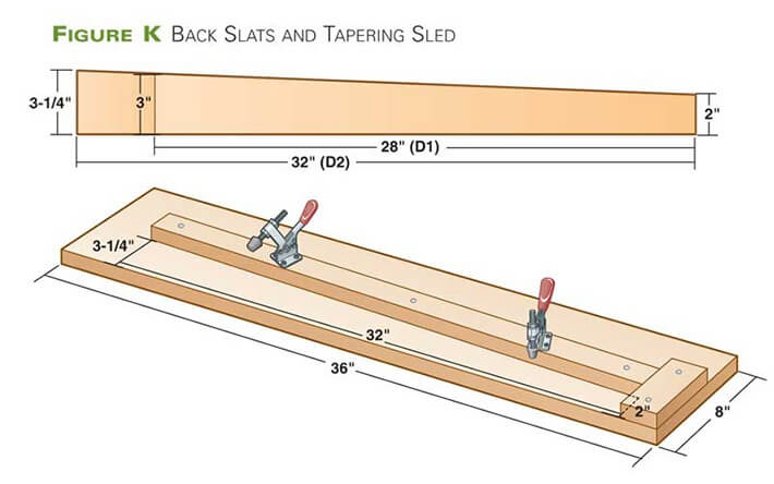 Back Slats and Tapering Sled