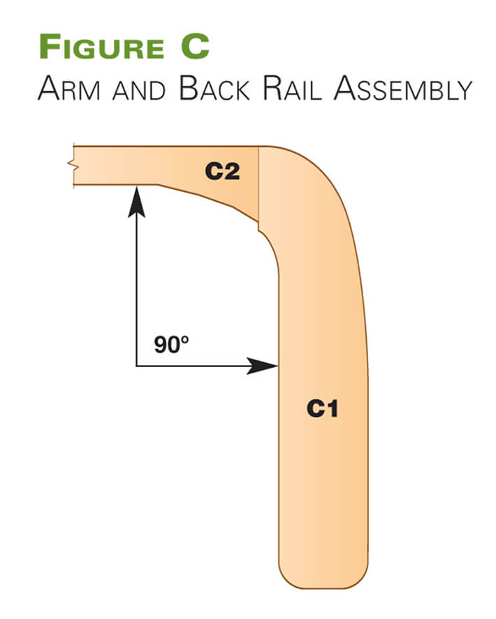 Arm and Back Rail Assembly