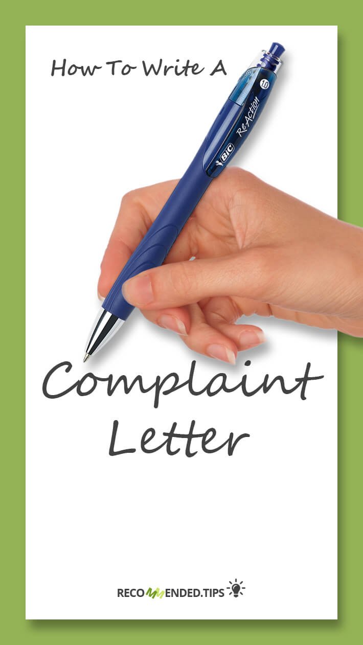Recommended tipshow to write a complaint letter recommended tips how to write a complaint letter aljukfo Images