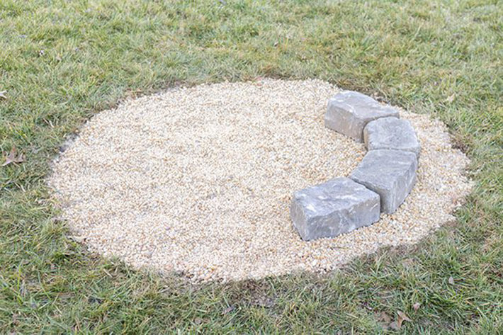 DIY - Fire Pit With Landscape Wall Stones