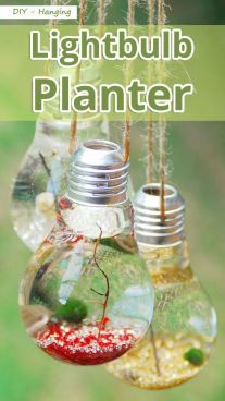 DIY - Hanging Lightbulb Planter