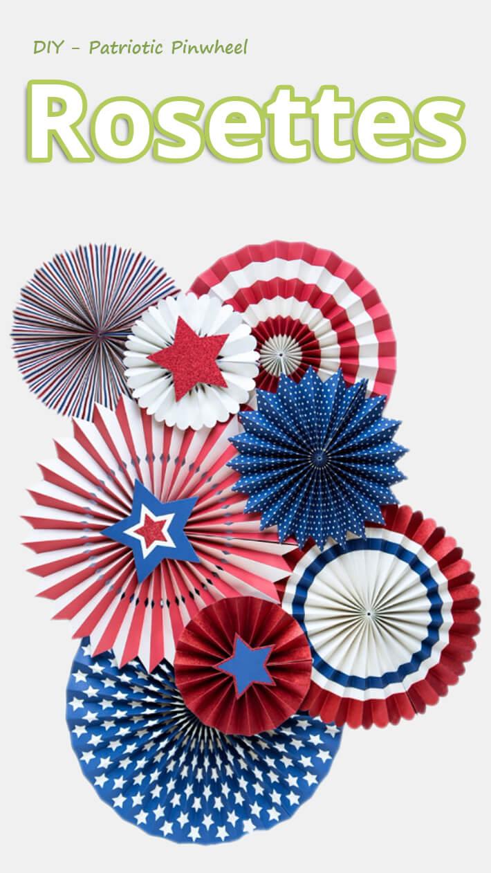 DIY – Patriotic Pinwheel Rosettes