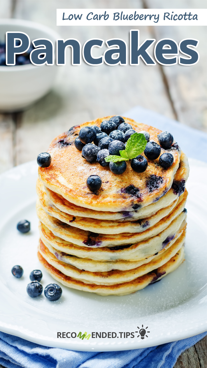 Low Carb Blueberry Ricotta Pancakes