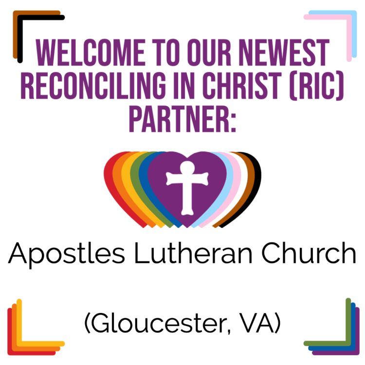 A New RIC Community: Apostles Lutheran Church (Gloucester, VA)