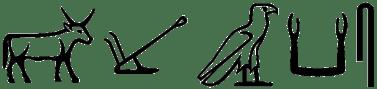 hieroglyphs meaning skAA - plow ox