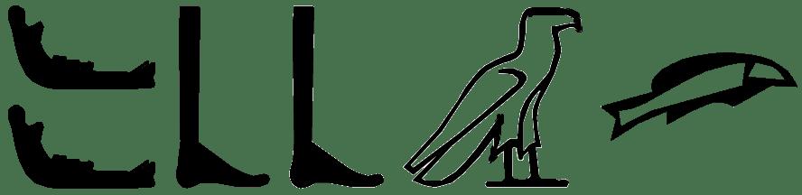 hieroglyphs for XAbb - crookedness