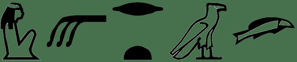 Hieroglyphs for XArt - widow