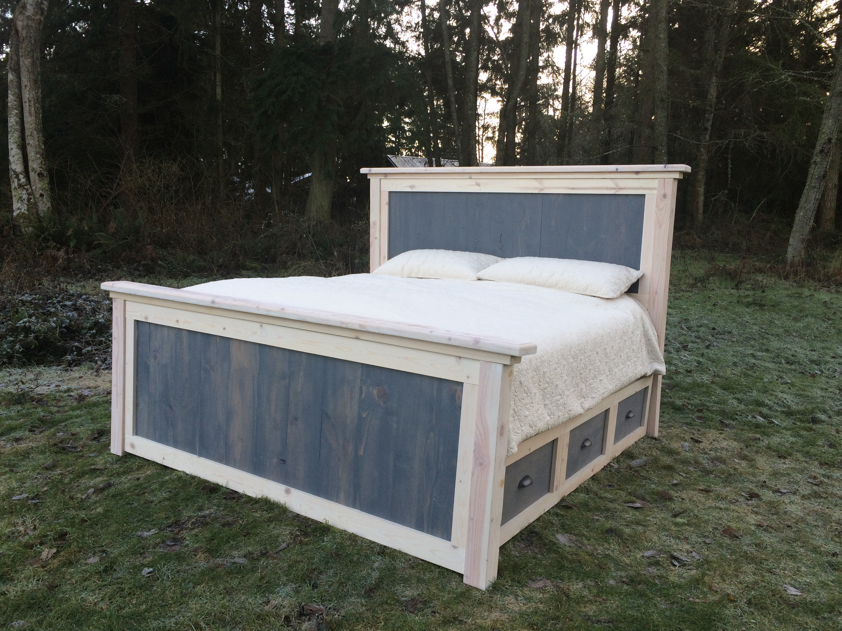 Diy King Farmhouse Bed Plans